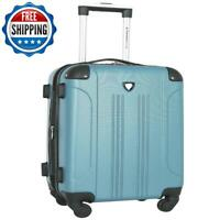 Carry On Luggage 20quot; Spinner Suitcase Travel Lightweight Expandable Rolling Teal