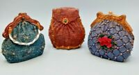 3 Small Decor Purses Sitco Importing Resin? Blues and Browns So Adorable