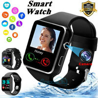 2021 Touch Smart Watch W Cam Women Men Heart Rate For iPhone Android Waterproof $18.93