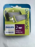 Philips Norelco OneBlade Replacement Blade Face Body Kit QP620 80 NEW $16.00
