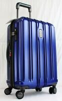 DELSEY CONNECTECH 21quot; USB SMART HARDSIDE SPINNER CARRY ON SUITCASE BLUE