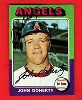 1975 TOPPS JOHN DOHERTY ANGELS AUTOGRAPHED VINTAGE CARD