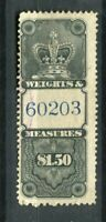 CANADA; Early classic Revenue issue used Weights amp; Measures $1.50