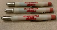 Vintage Set of 3 Different Colored Winchester Bullet Pencils