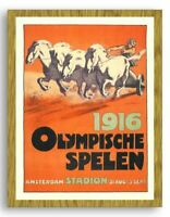 FRAMED Olympic Games Poster Amsterdaam 1916 Reproduction Vintage Print