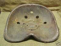Vintage Steel Tractor Seat > Antique Tractor Parts Old