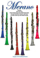 WHITE BEGINNER STUDENT CLARINET PACKAGE OUTFIT B FLAT