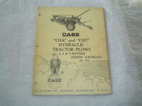 1959 Case CHA CHT hydraulic tractor plow parts catalog manual book
