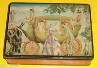 Helen Harrison's Home Made Candy Tin 1940s Great Graphics! Nice SEE!