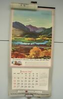 Vintage 1947 Allis Chalmers Tractor Centennial Calendar 12 Pages Hardie Gramatky