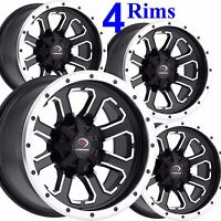 4) ATV RIMs WHEEL 12x7 front 12x8 rear 4/156 Vision 548 fits some Polaris 3/8x24