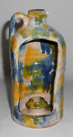 Virginia Blue Ridge Studio Pottery Candle Stick Jug Mint
