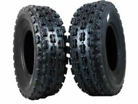 New HONDA TRX 400EX MASSFX ATV Front Tires (2) set (4) ply 22X7-10 (1999-2009)