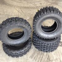 HONDA TRX 250R QUADBOSS SPORT ATV TIRES ( SET 4 ) 21X7-10 , 20X10-9 4 PR