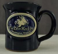 Studio Art DENEEN Pottery Mug THE BLUE ROCK INN Washington Virginia Cobalt Glaze