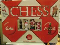Collectible Coca Cola Christmas Chess Set with Classic Coke Pieces