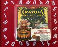 VINTAGE BN FS 1991 CRAYOLA COLLECTIBLE HOLIDAY TIN COMPLETE