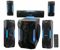 Rockville HTS56 1000w 5.1 Channel Home Theater System Bluetooth USB8quot; Subwoofer $127.02