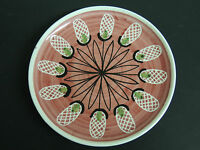 Elle of Norway Art Pottery Plate Mid Century Hand Signed Scandinavian Modern