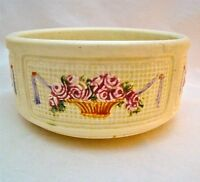 WELLER ROMA 6 1 2quot; WIDE quot;ROSE BASKETquot; Marked BOWL