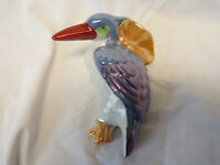 Lusterware toucan wall pocket  hand painted japan