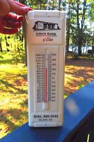 ORIGINAL UNION BANK OF BLAIR WISCONSIN LARGE  THERMOMETER