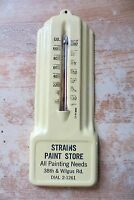 antique Strains Paint Store from Manitowoc Wisconsin Wilgus Rd thermometer