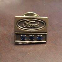 Vintage Ford Motor Company Employees Pin w/ 3 Blue Stones