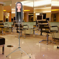 Mannequin Wig Head Tripod Hairdressing Training Head Holder Stand US STOCK I0K8