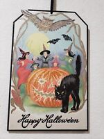 Halloween Vintage Style Trio Witches Black Cat Wall Sign Decor 17