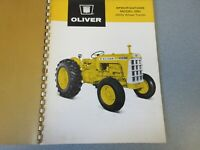 Rare Oliver 550 Tractor Industrial Tractor Sales Sheet 1966