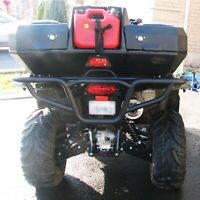 Bison 166-266H ATV Rear Bumper Black Suzuki King Quad 450 500 700 750 05-2019