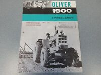 Rare Oliver 1900 4WD Farm Tractor Sales Sheet 1963 Library Copy