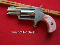 Imitation Pink Pearl Grips for North American Arms .22 short models