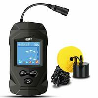 LUCKY Portable Fish Finders Wired Transducer Kayak Fish Finder Kit Portable
