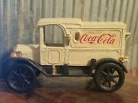 Old Coca Cola Delivery Panel Truck Cast Iron Vintage Toy