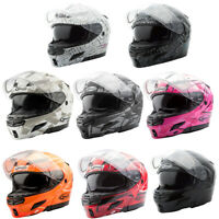 Adult GMAX GM54S Modular Helmet Flip-Up Flip Jaw Snowmobile ATV Off Road DOT
