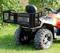 ATV & UTV Universal Detachable Rear Drop Basket Rack Steel Cargo Luggage Hunting