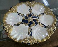 Limoges Hand Painted Oyster Plate