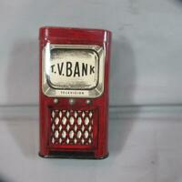 1950's Tin TV Bank, Bernie's Tydol Ignition, Manchester, NH