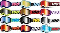 100% Adult Accuri Mirrored Lens MX BMX ATV Motocross Offroad Goggles All Style