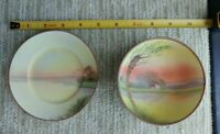 Antique Nippon Porcelain Hand Painted Trinket Dish and Saucer