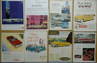 CONVERTIBILE Auto Ad Lot (68) Print Ads 1939-1969 Chevy Ford Cadillac Dodge Olds