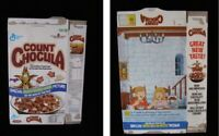 Count Chocula Glow In The Dark Picture Vintage Cereal Box Flat Empty Box Cereal