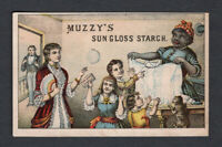 1880s Trade Card - Black American Servant - Muzzy's Starch - Elkhart IN
