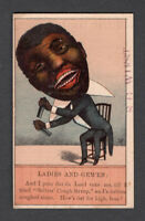 1880s Trade Card - Black American - Sellers' Cough Syrup