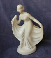 Vintage Art Deco Flapper Lady Vase or Figurine - Haeger Caliente California