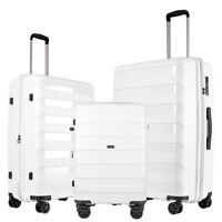 GinzaTravel luggage set 3 piece PP Lightweight Spinner Expandable Suitcase