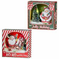 Set/2 RAZ Imports Lighted Christmas Retro Vntg Style Santa Decor Shadowbox Gifts