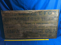 Antique Early Wood Advertising Sign Car Truck Garage Interstate Service Station